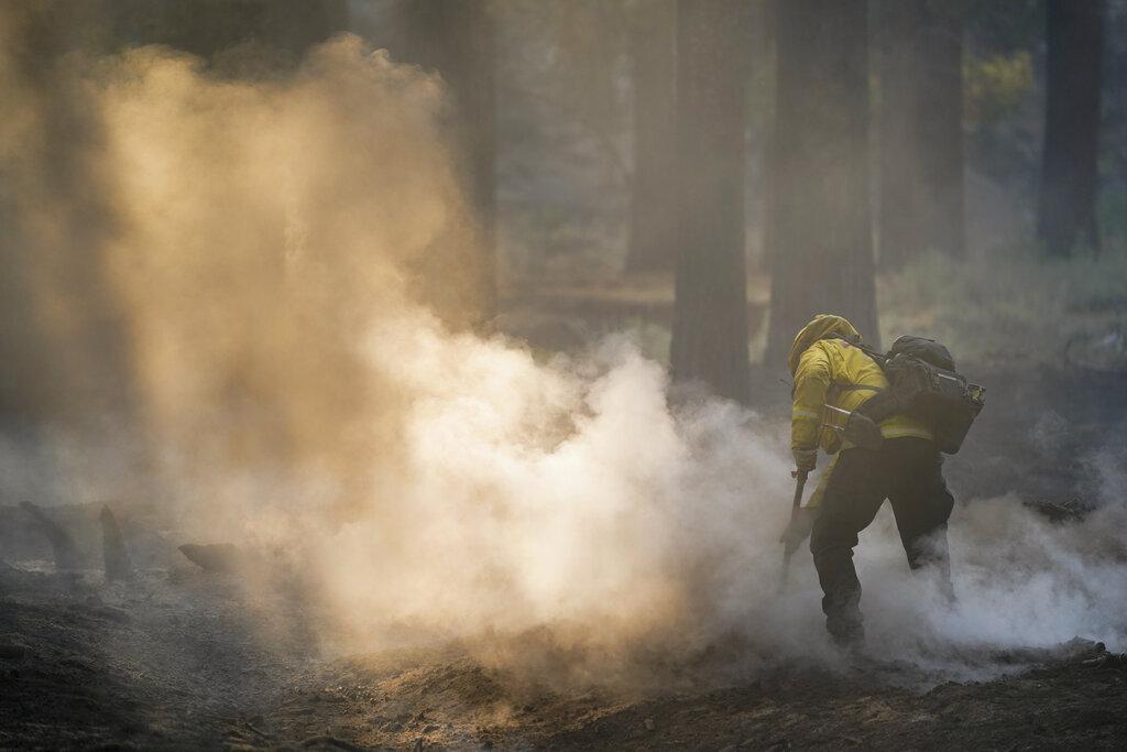 Firefighter near South Lake Tahoe, California