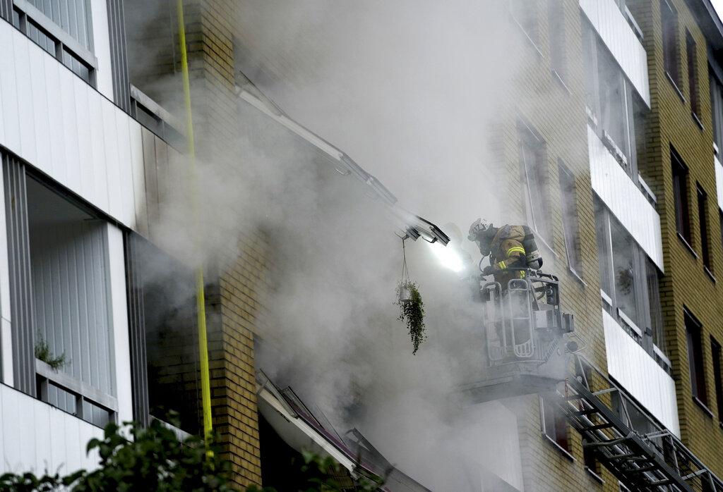 Sweden apartment explosion