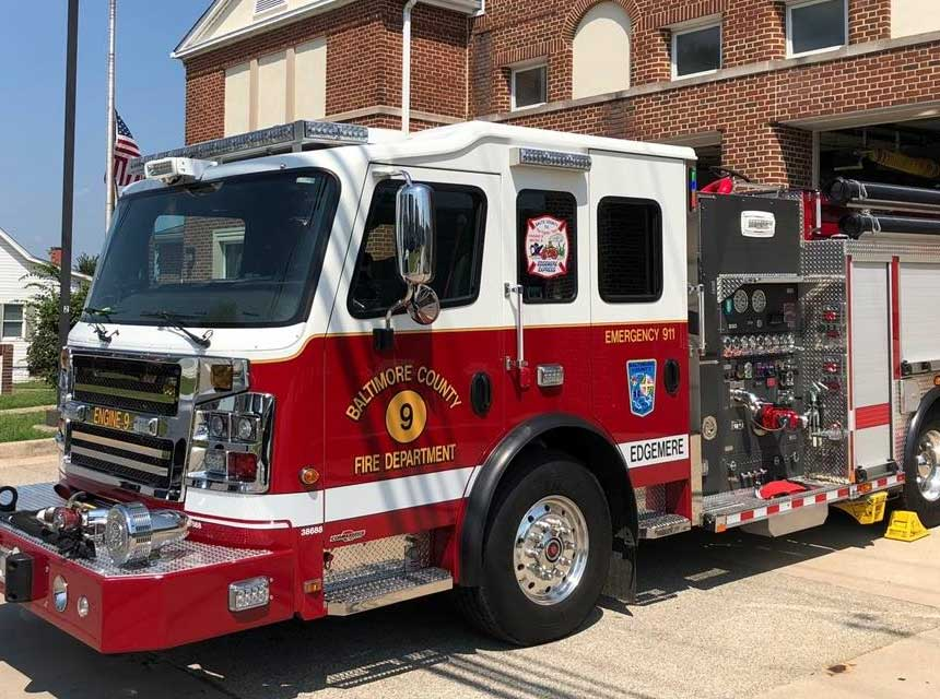 Baltimore County MD Edgemere Fire Station Engine 9