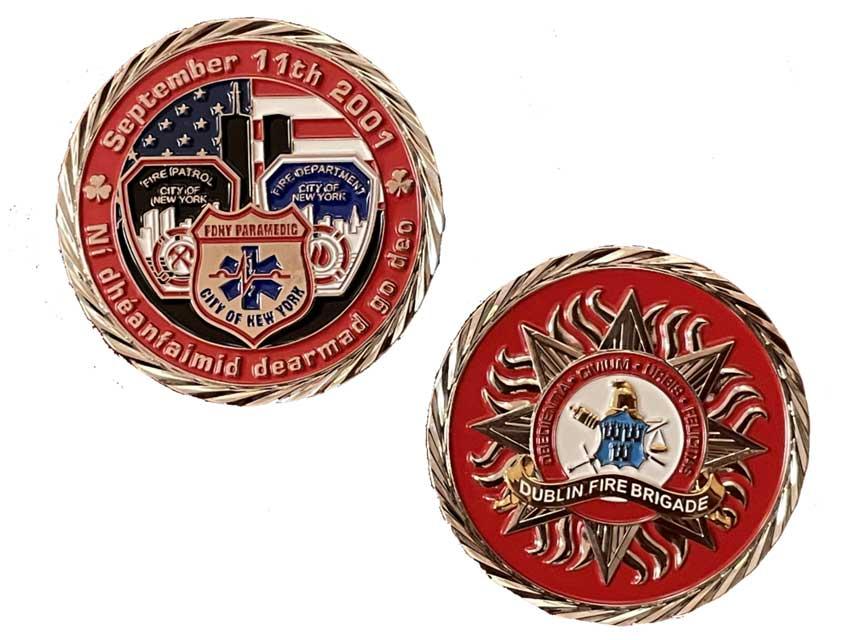 Dublin Fire Brigade 9/11 challenge coin