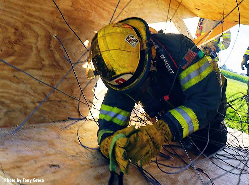 Firefighter entanglement drill