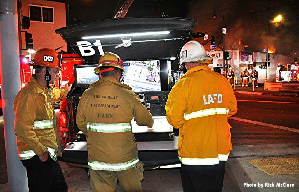 LAFD command staff at fire