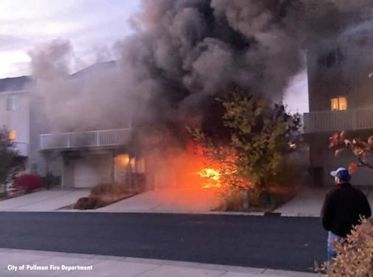 Officer Grazed by Exploding Ammo at WA Structure Fire