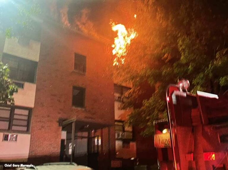 Woman Dead, Man Rescued from Third Floor After Massive Three-Alarm CT Apartment Complex Fire
