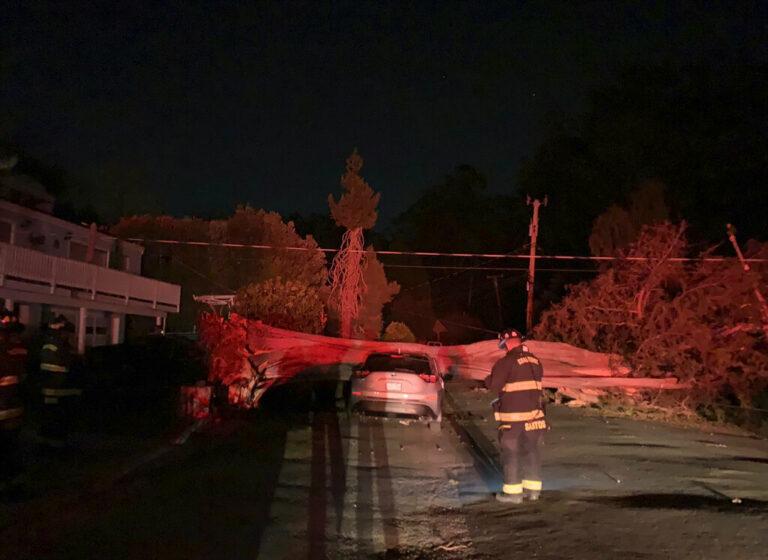 CA Wildfires Destroy Mobile Homes; One Man Burned