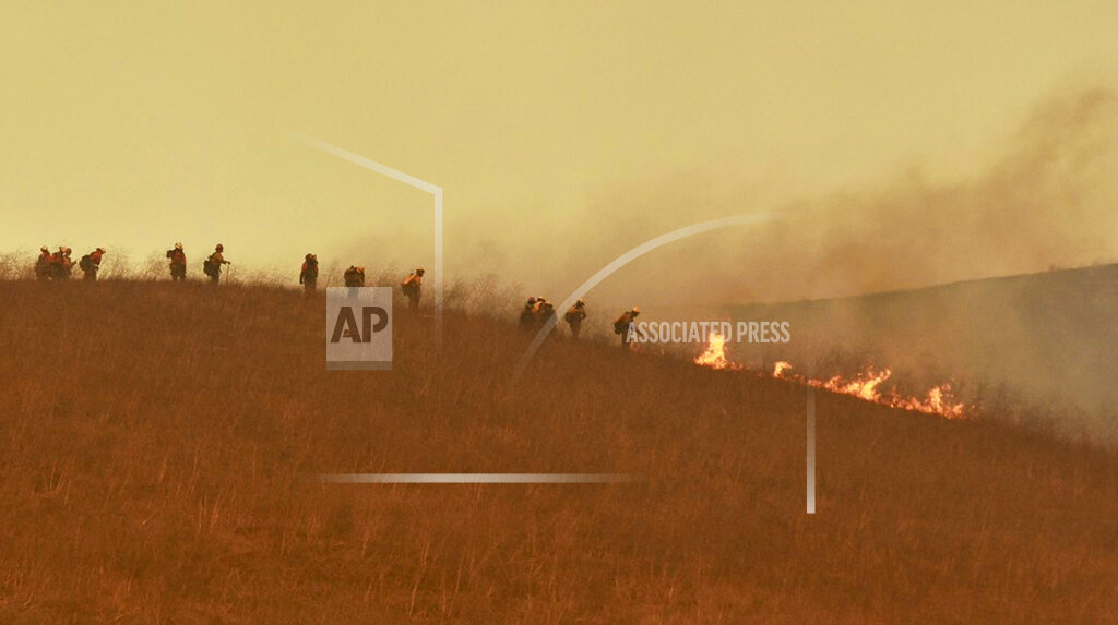 Crews at California Wildfire