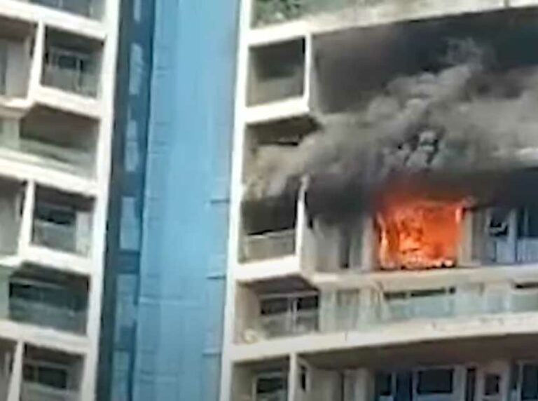 Fire Burns Mumbai High-Rise; Man Jumps to His Death